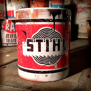 2x-Stihl-chainsaw-oil-can-Gift-Motorcycle-Car-Mechanic-Gift-11oz-Tea-coffee-mugs