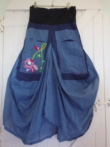QUIRKY BALLOON SKIRT 100/% COTTON 10 12 14 BNWT LAGENLOOK ETHNIC HIPPY ARTY