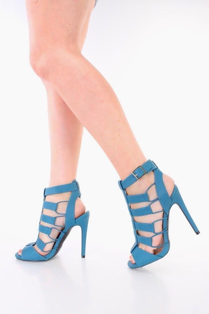 Nouveau Lot Bleu Rose Peau Peau Peau de serpent texturé à lanières Chaussures Talons Hauts En Cuir Synthétique c5f308