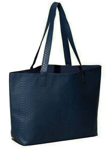 Faux Snake Leather Large Tote Bag