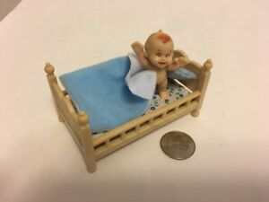 Details About Vintage Plastic Dollhouse Toddler Bed Baby S Up