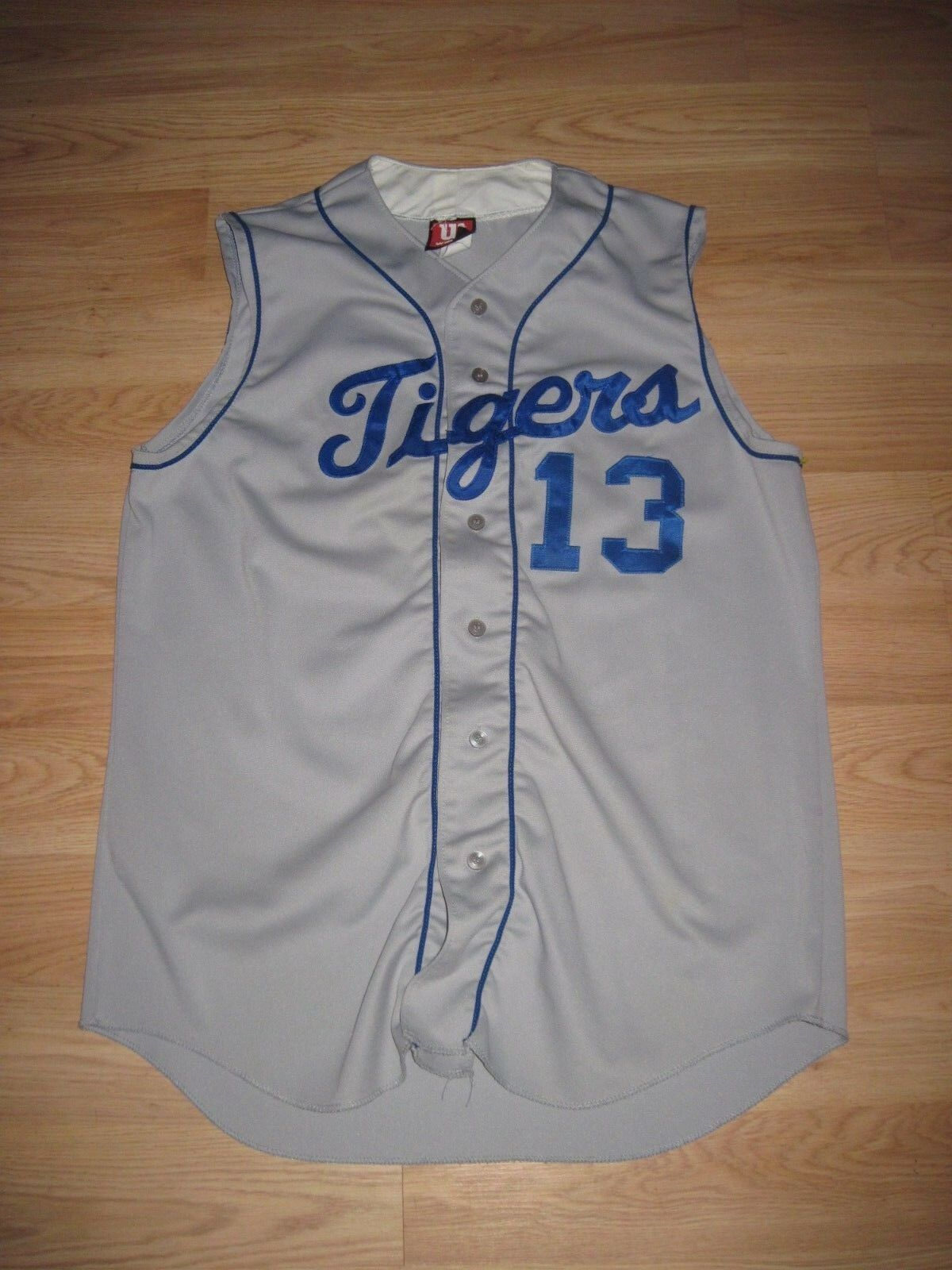 Wilson L.A. Dodgers Style Tigers Button Down Baseball Jersey Detroit Sewn On