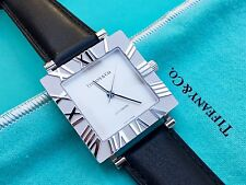 Tiffany & Co. Sterling Silver Atlas Square Watch with Roman Numerals, Automatic