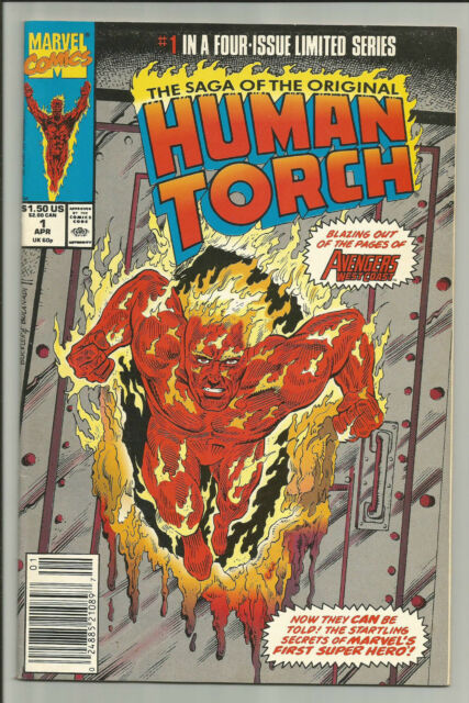 The Saga Of The Oriigianl Human Torch Mini Series, 1,2,3,4, d98
