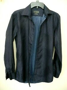 Black Label By Ruffini Italy Button Down Long Sleeve Men's Size S Slim Fit
