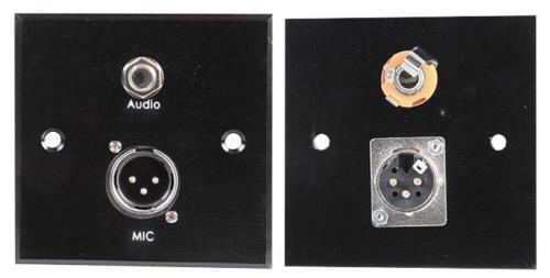XLR Plug Wallplate with 6.35mm Jack - Steel -  PSG03855