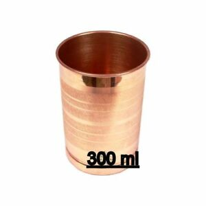 100-Copper-Drinking-Glass-Cup-Tumbler-Mug-300-ml-Ayurveda-Health-yoga