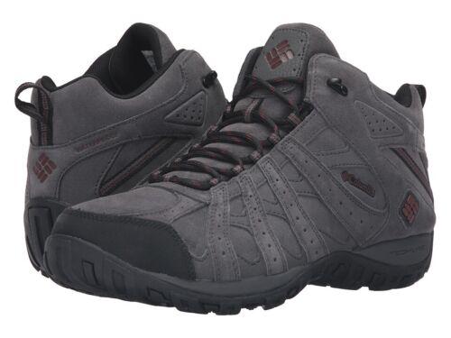"New Mens Columbia /""Redmond/"" Mid Leather Omni-Tech Waterproof Techlite Trail Shoe"