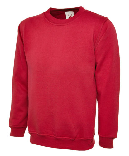 UC205 Uneek Olympic Sweatshirt Work Wear Jumper Top Plain Sweater Unisex