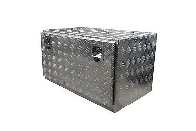 Trailers /& Caravans 900x550x550 Aluminium Chequer Plate Tool Box for Trucks