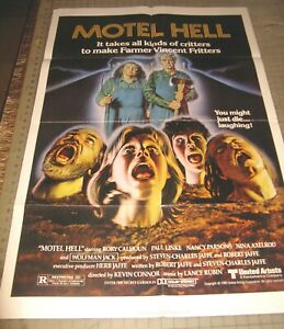 "1980 MOTEL HELL 27"" x 41"" One Sheet Theater Poster - Horror - Comedy - Sausage?"
