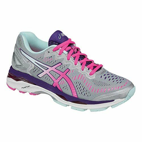 19553b52aa8f ASICS Womens Gel-kayano 23 Running Shoe Silver pink parachute Purple 7 2a  US for sale online
