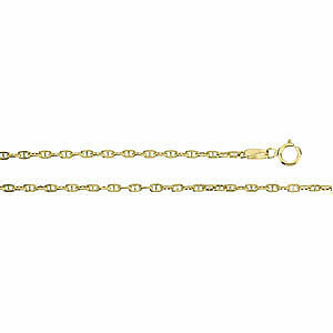 """New 16/"""" inch Anchor Chain Necklace 14k Yellow Gold 1.75mm wide FREE Shipping"""