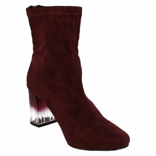 SALE Retail Details about  /Ladies F50542 Magenta Microfiber Ankle Boot by Spot On