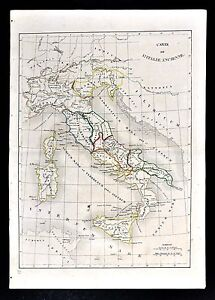 1830 Langlois Atlas Map Ancient Italy Italia Latium Etruria ... on ancient rome po river map, carthage colonies, carthage war elephants, carthage territory, corsica map, carthage port, carthage people, carthage greece, carthage harbor, syracuse map, carthage today, alps mountains map, tiber river map, carthage tunisia, carthage trade, pyrenees mountains map, vesuvius mountains map, carthage soldier,