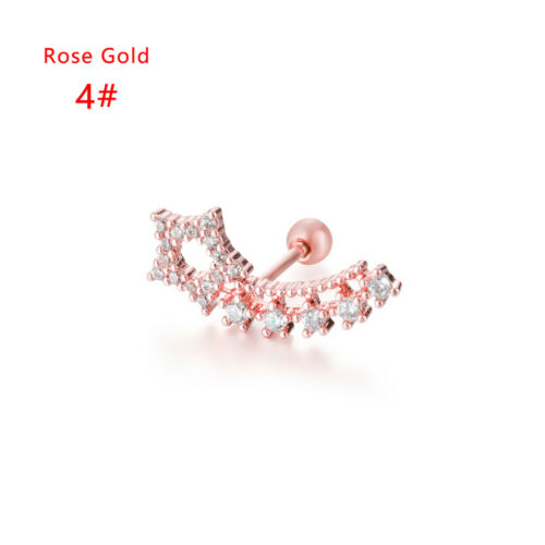 Helix Piercing Jewelry Crystal Star Curved Big Cartilage Earring Rook Stud