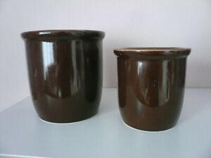 Tontöpfe 2 Gurkentöpfe Einlegebehälter Vorratstöpfe Vorratsgefäße Aufbewahrung