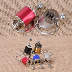 Car Tuning Parts Gearbox Gearshift Gear Shift Keychain Keyring Cylinder Modified