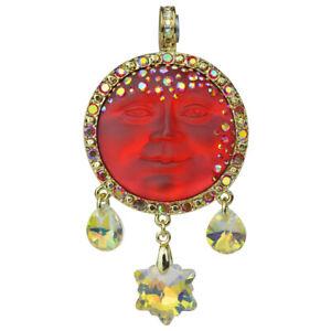 Kirks-Folly-Royal-Seaview-Moon-Goddess-Snowflake-Magnetic-Enhancer-Goldtone