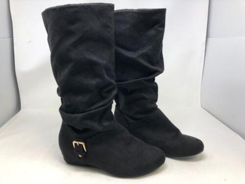 - Black 51T Women/'s Wide Width Bongo Armitage Knee High Boots New 20309