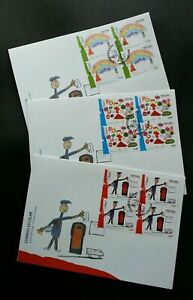 SJ-Portugal-School-Mail-2008-Mailbox-Pillar-Postal-Postbox-Painting-FDC