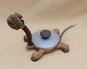 Turtle sculpture, primitive folk art by S.D. Meadows, wood & found objects