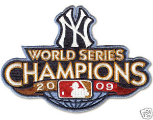 2009 World Series Champion Patch - NY Yankees -Licensed