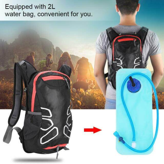 2L Bicycle Cycling Water Bladder Pack Backpack Bag Hydration Camping Hiking New