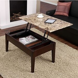 Image Is Loading Lift Top Coffee Table Pop Up Tray Living