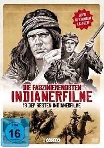 13-INDIEN-FILMS-Western-Klassiker-Box-SIOUX-Buffalo-Bill-DANIEL-BOONE-DVD-neuf