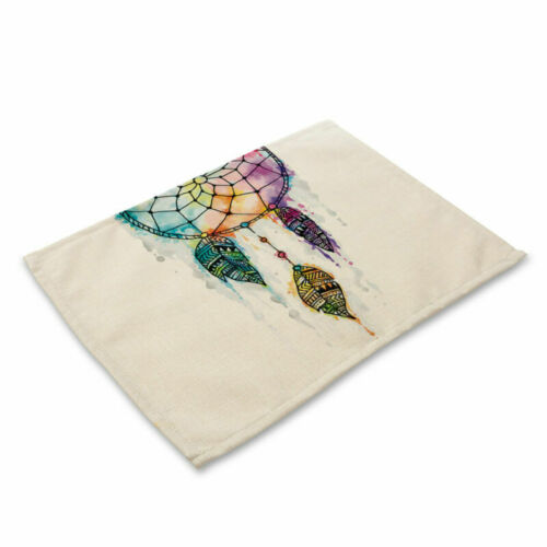 Insulation Cotton Linen Placemat Dining Table Mat Home Kitchen Dreamcatcher
