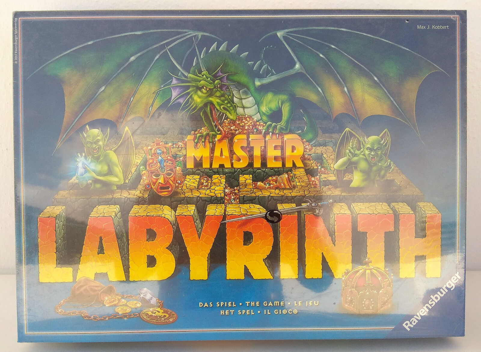 Rare Ravensburger Board Game Master Labyrinth Max Kobbert Excellent Sealed