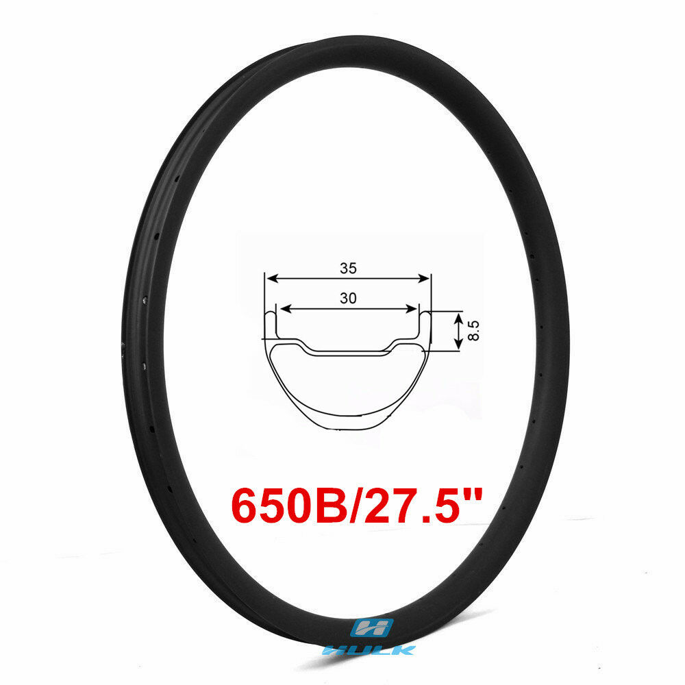 27.5er 650B 35mm width mtb carbon rim mountain bicycle rim tubeless compatible