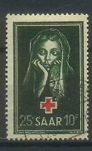 SAAR-Saarland-1951-MiNr-304-used-Red-Cross