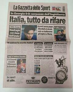 GAZZETTA-DELLO-SPORT-11-SETTEMBRE-1997-QUALIF-MONDIALI-GEORGIA-ITALIA-0-0