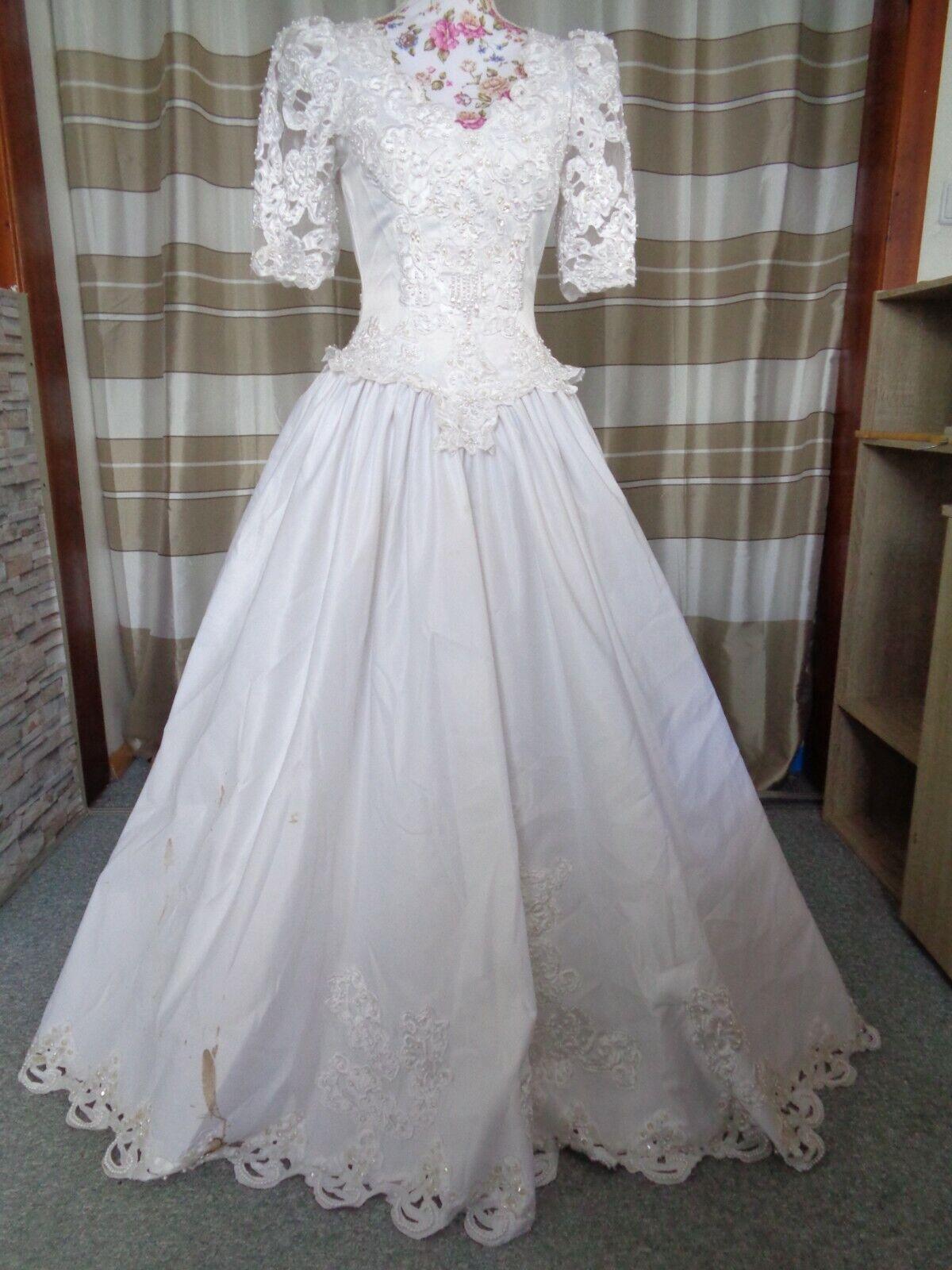 (73)Edles Damen Braut Standesamt Abend Kleid GR: 36
