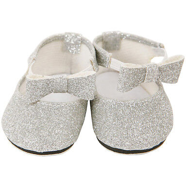 Silver Tap Shoes For Standard 43 Cm Baby Born Small Size