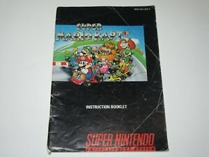 super mario kart snes super nintendo instruction booklet only a rh ebay com Super Punch Out SNES Super Mario RPG SNES