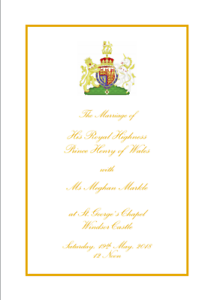 PDF File Official Harry and Megan Wedding Order of Service