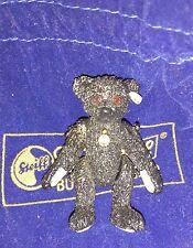 STEIFF PEWTER MINIATURE TEDDY BEAR - BLACK 1912 MOURNING BEAR TITANIC - NEW