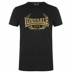 Lonsdale-Da-Uomo-MTK-PRO-Gamma-T-shirt-Girocollo-Tee-Top