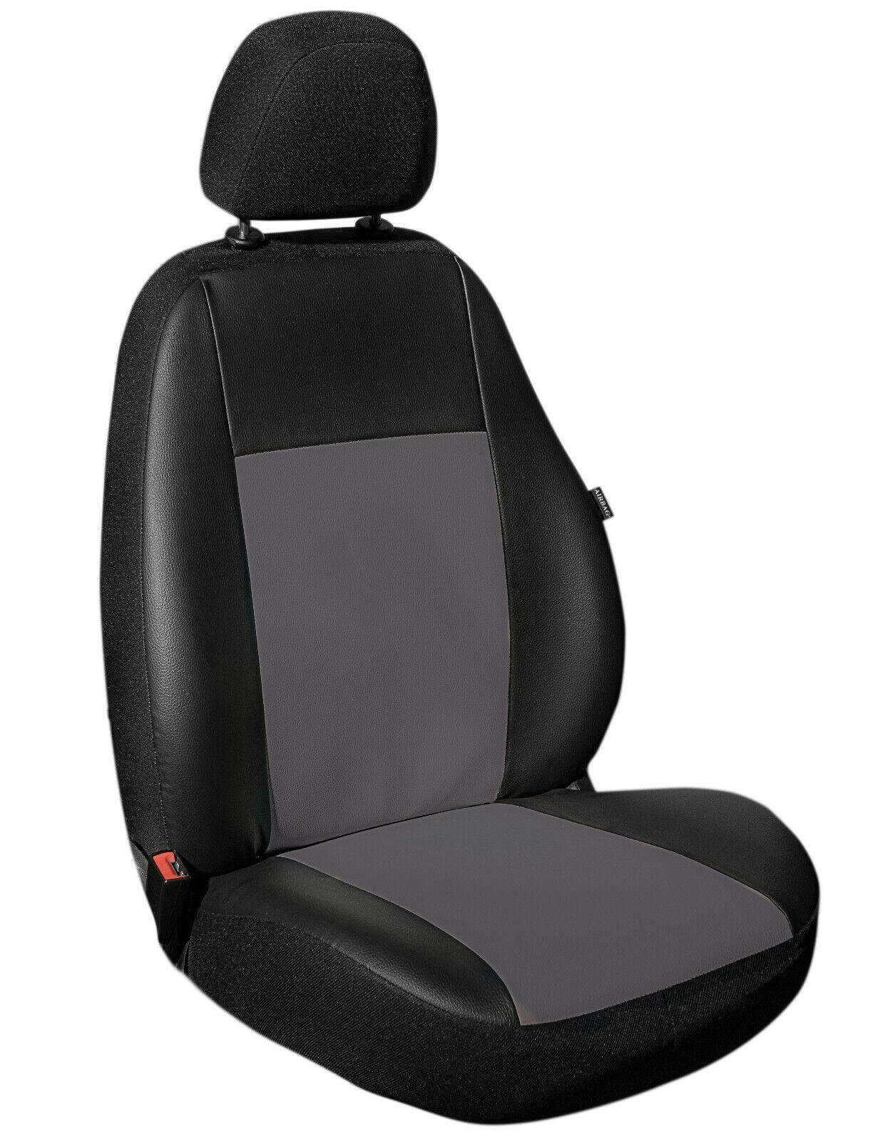 Grauer Velours Sitzbezüge für SEAT EXEO Autositzbezug VORNE