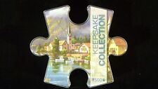 NEW Keepsake Collection 500 Piece Alpine Village Puzzle in Collectible Box