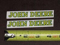 2 Stickers John Deere 4 Long Text Vinyl Sticker Decal Toy Farm Tractor Gator
