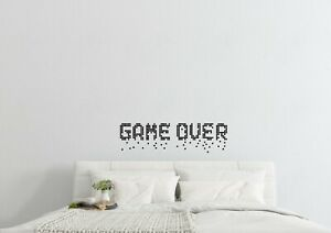 8Bit-Game-Over-Dropping-Away-Wall-Art-Home-Gaming-Decor-Decal-Vinyl-Sticker
