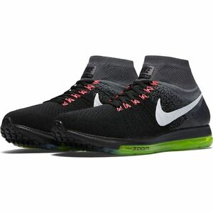 70016e641abbd NIKE ZOOM ALL OUT FLYKNIT BLACK WHITE-COOL GREY-VOLT 844134-002