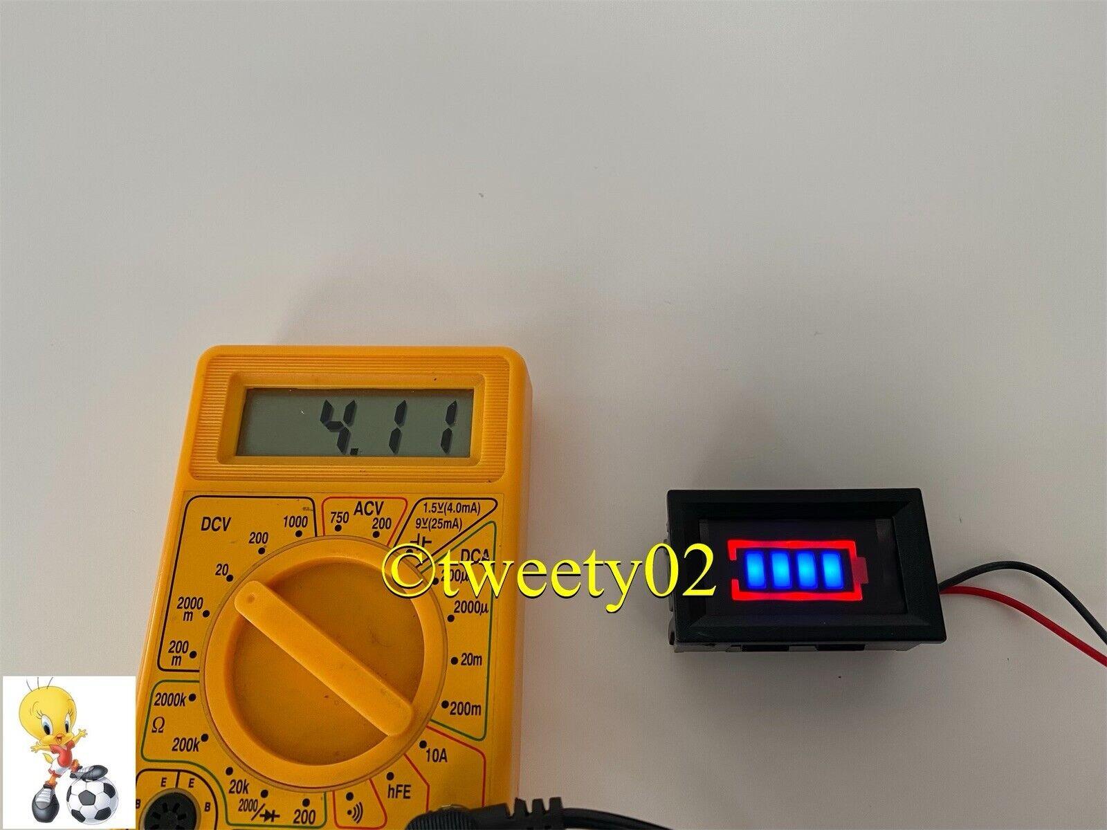 Battery Power Tester Li-po Li-ion 3.7V - 4.2V