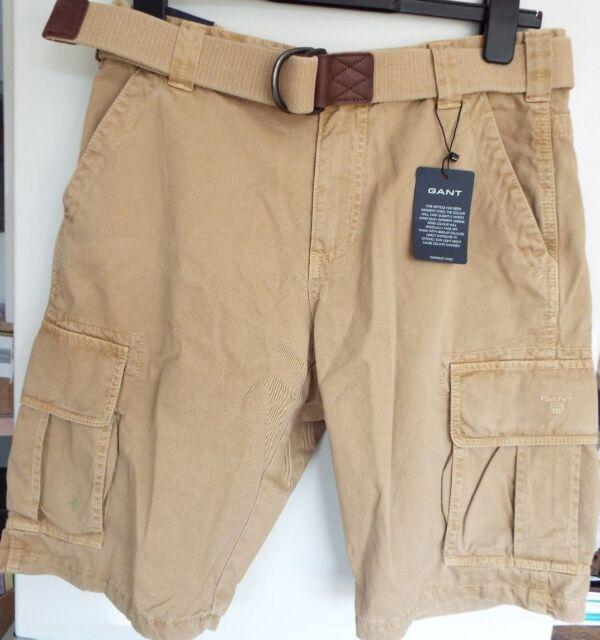 cc726022f4 Gant Mens Loose Belted Cargo Combat Shorts D Khaki W 30