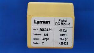 LYMAN-Pistol-DC-Mould-Double-Cavity-44-Cal-Bullet-429421-SWC-NEW
