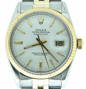 Mens-Rolex-2Tone-14K-Gold-Stainless-Steel-Datejust-Jubilee-w-White-Dial-16013